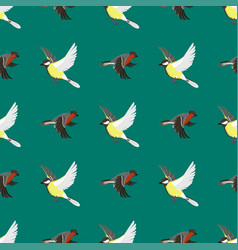 different flying birds seamless pattern vector image vector image