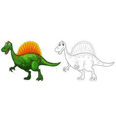 Doodle animal for dinosaur vector