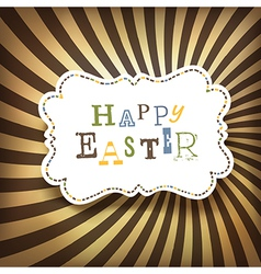 easter rays vector image vector image