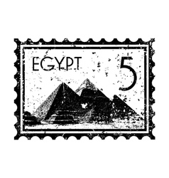 egypt print icon vector image vector image