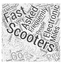 Electronic scooter faq word cloud concept vector
