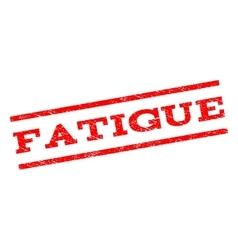 Fatigue watermark stamp vector
