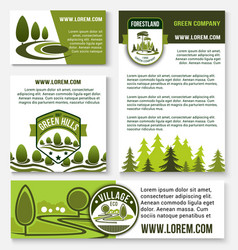 Green company and eco business banner template set vector