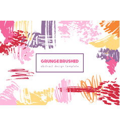 grunge brush header vector image vector image