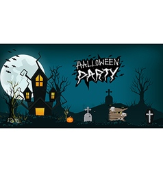 Halloween design background element haunted vector
