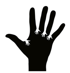 Hands reaching each other vector image