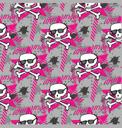 Hipsters or emo seamless pattern vector