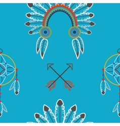 Indian flat pattern vector image vector image