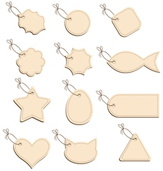 labels beige vector image
