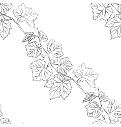 Leaf background Floral seamless texture with vector image vector image