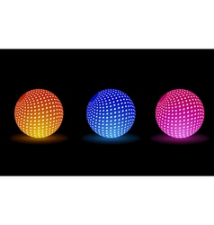 Light balls for your party vector image