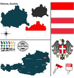 Map of Vienna vector image