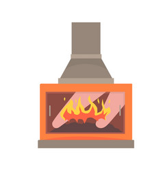 Modern gas or electric fireplace vector