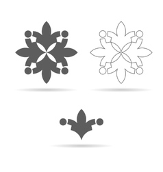 monochrome ornament or geometrical symbol vector image vector image