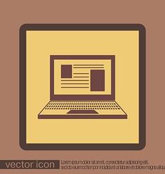 Notebook laptop icon vector