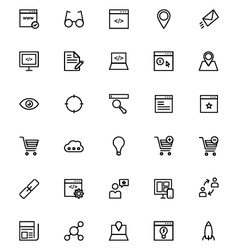 Online marketing Line Icons 1 vector image vector image