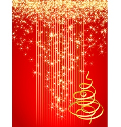 Red christmas card vector illustration vector
