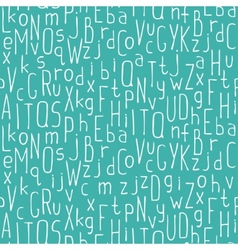 seamless pattern of colorful hand drawn font vector image