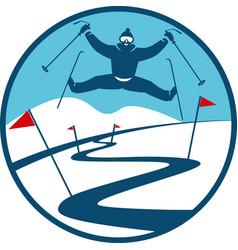Ski track logo vector