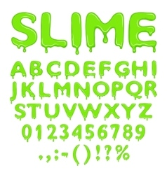 Slime alphabet numbers and symbols vector image