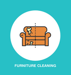 sofa repair line icon upholstered furniture dry vector image vector image