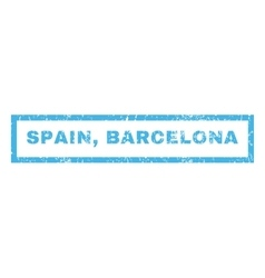 Spain barcelona rubber stamp vector