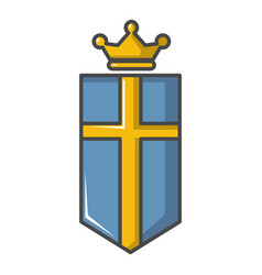 Sweden crown icon cartoon style vector