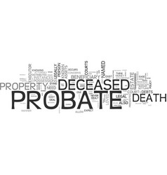 what you should know about probate text word vector image