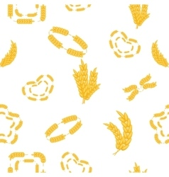 Wheat pattern cartoon style vector