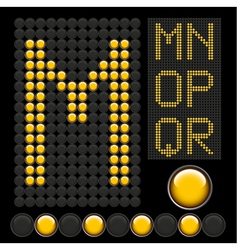 Yellow button letters 3 vector