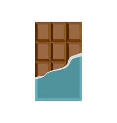 Chocolate icon in flat style vector