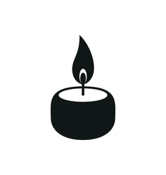 Candle simple black icon on white background vector