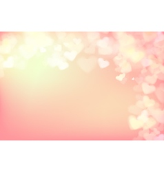 004 Blur heart on light pink abstract background vector image