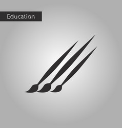 brushes black and white style icon vector image