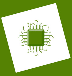 Cpu microprocessor   white vector