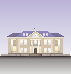 Residential building vector