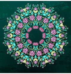 Round indian pattern mandala vector