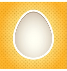 Yellow egg frame vector