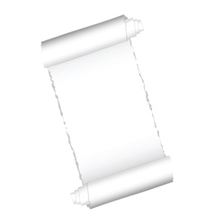 Paper roll white color vector