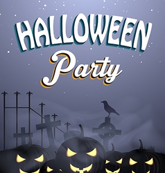 Halloween flayer vector