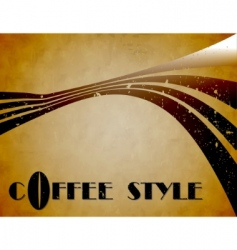 coffee style background vector image