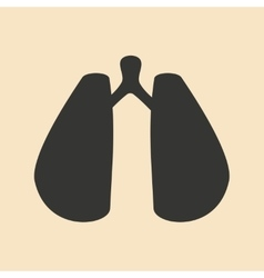 Flat in black and white mobile application lungs vector