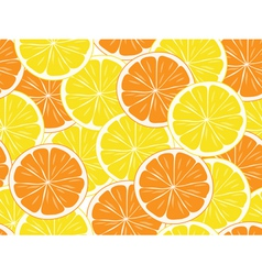 Seamless orange and lemon slices vector