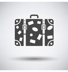 Suitcase icon vector