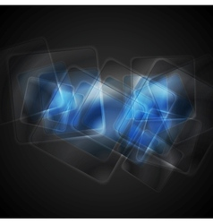 Abstract blue glossy squares background vector image vector image