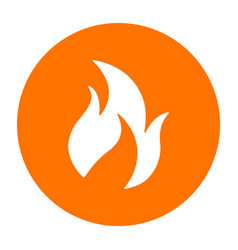 abstract fire symbol on a circle vector image vector image