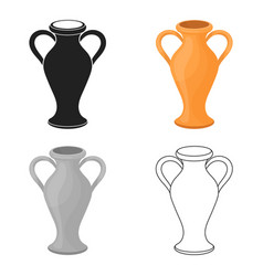 amphora icon in cartoon style isolated on white vector image