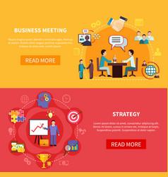 B2b meetings horizontal banners vector