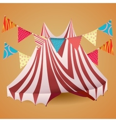 Circus tent with flags vector