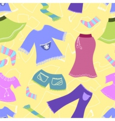 clothes pattern vector image